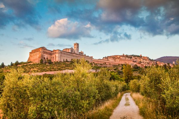 Assisi from the foot of the hill