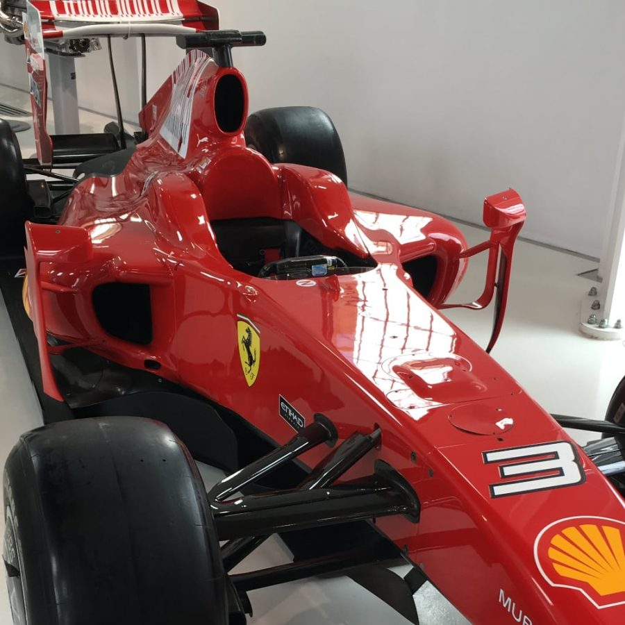A Formula 1 Ferrari model