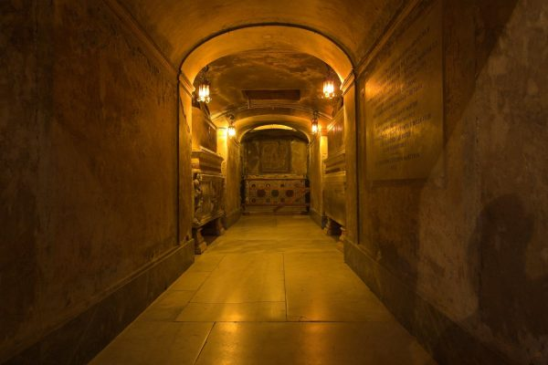Inside of Santa Prassede Basilica